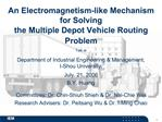 An Electromagnetism-like Mechanism  for Solving  the Multiple Depot Vehicle Routing Problem