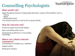 Counselling Psychologists