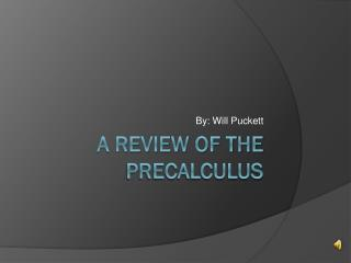 A Review of the  PreCalculus