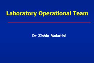 Laboratory Operational Team