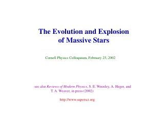 The Evolution and Explosion of Massive Stars