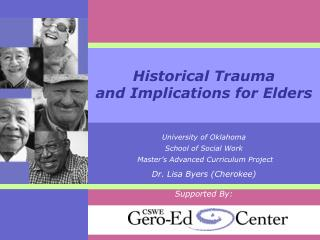 Historical Trauma and Implications for Elders