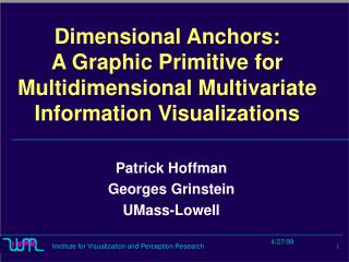 Dimensional Anchors: