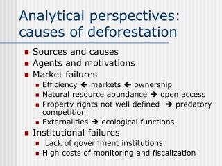 Analytical perspectives: causes of deforestation
