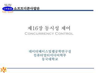 제16장 동시성 제어 Concurrency Control