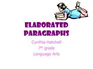 Elaborated paragraphs