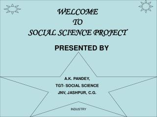 WELCOME TO SOCIAL SCIENCE PROJECT