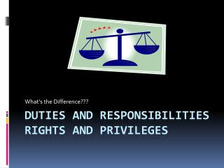 Duties and Responsibilities Rights and Privileges