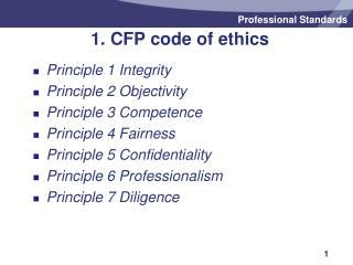 1. CFP code of ethics