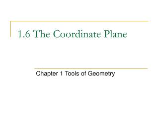 1.6 The Coordinate Plane
