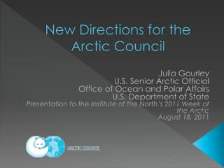 New Directions for the Arctic Council
