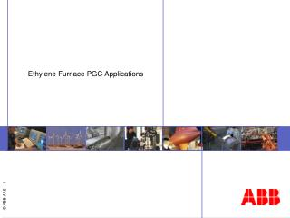 Ethylene Furnace PGC Applications