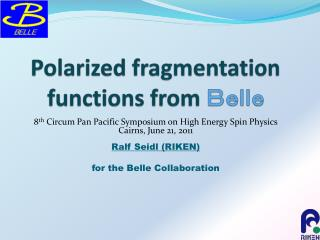 Polarized fragmentation functions from  Belle
