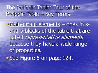 The Periodic Table: Tour of the Periodic Table – Key Terms
