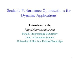 Scalable Performance Optimizations for Dynamic Applications