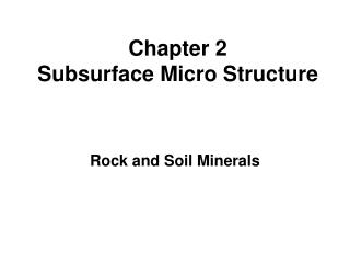 Chapter 2  Subsurface Micro Structure