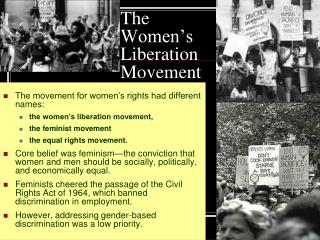 The Women's Liberation Movement