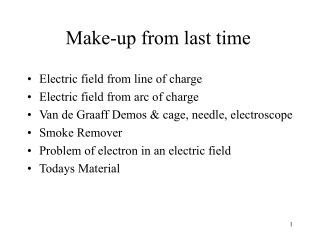 Chapter 23   Electric Charge and Electric Fields