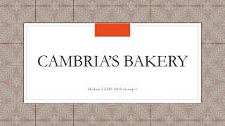 Cambria's Bakery