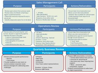 Sales Management Call