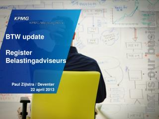 BTW update Register	 Belastingadviseurs