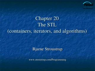 Chapter 20  The STL containers, iterators, and algorithms