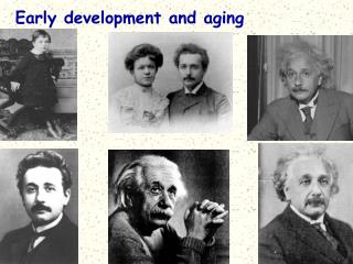 Early development and aging
