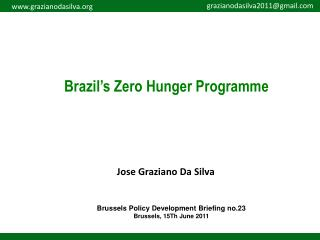 Brazil's Zero Hunger Programme