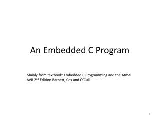 An Embedded C Program