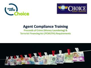 Agent Compliance Training Proceeds  of  Crime (Money  Laundering) &