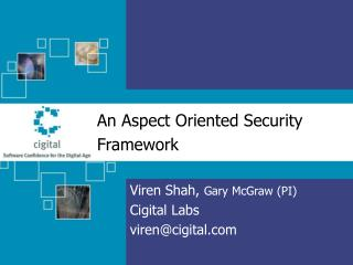 An Aspect Oriented Security Framework