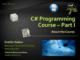 C# Programming Course – Part I