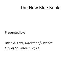 The New Blue Book