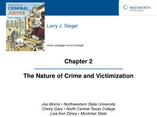 Chapter 2 The Nature of Crime and Victimization
