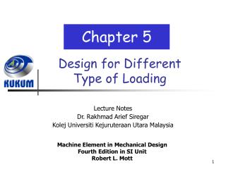 Design for Different Type of Loading