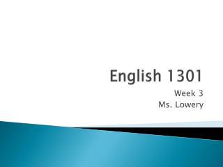 english 1301 legalization