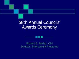 58th Annual Councils' Awards Ceremony
