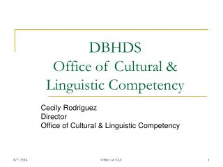 DBHDS  Office of Cultural & Linguistic Competency