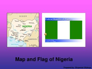 Map and Flag of Nigeria