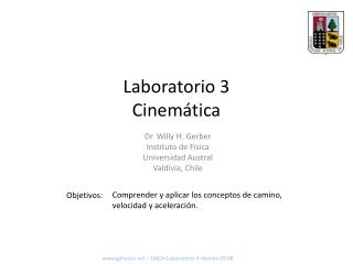 Laboratorio 3 Cinemática