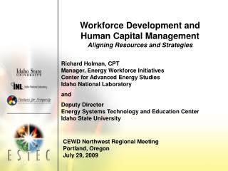 Workforce Development and  Human Capital Management Aligning Resources and Strategies