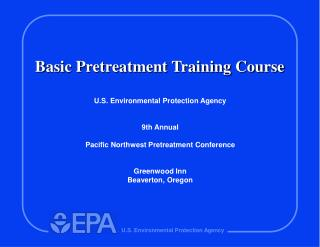Basic Pretreatment Training Course
