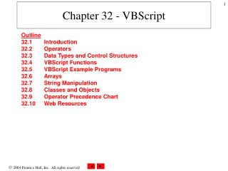 Chapter 32 - VBScript