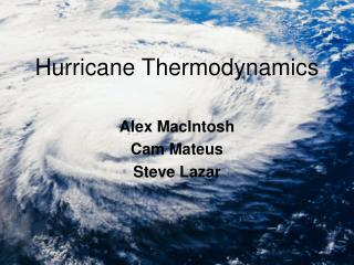 Hurricane Thermodynamics