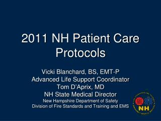 2011 NH Patient Care Protocols