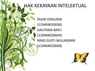 Hak Kekayaan Intelektual (HAKI)