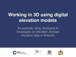Working in 3D using digital elevation models