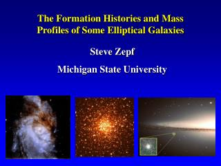 The Formation Histories and Mass   Profiles of Some Elliptical Galaxies