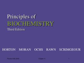 Principles of BIOCHEMISTRY Third Edition