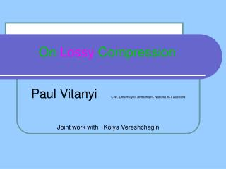 On  Lossy  Compression